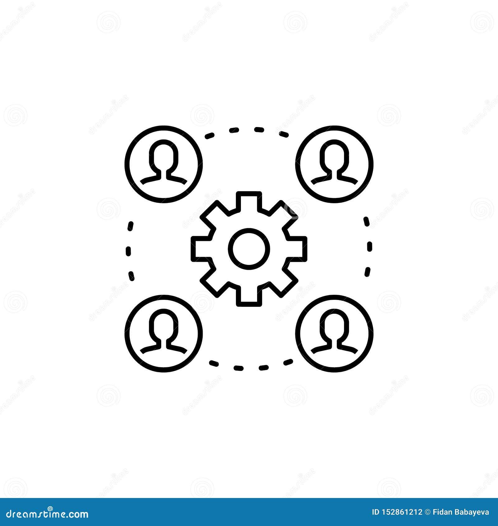 Seo d affaires, chaîne de montage de vitesse icône Travail d équipe à l idée Des signes et les symboles peuvent ?tre employ?s pou