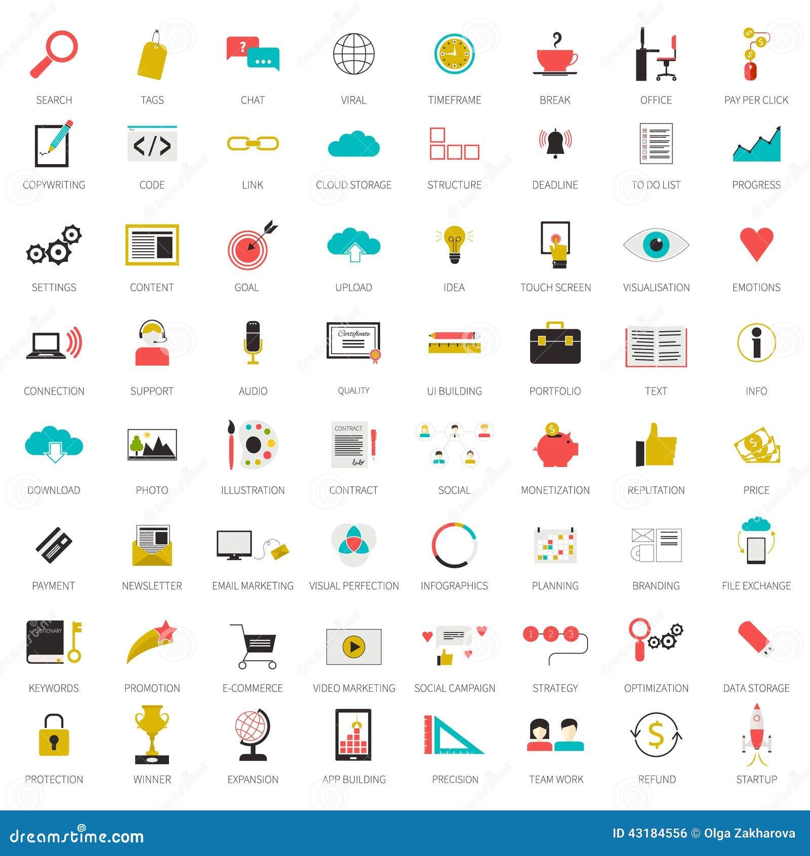 Seo icons big set stock illustration illustration of cloud 43184556 seo icons big set biocorpaavc Choice Image
