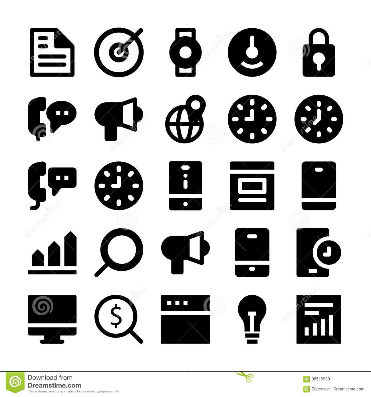 SEO and Marketing Solid Icons 2