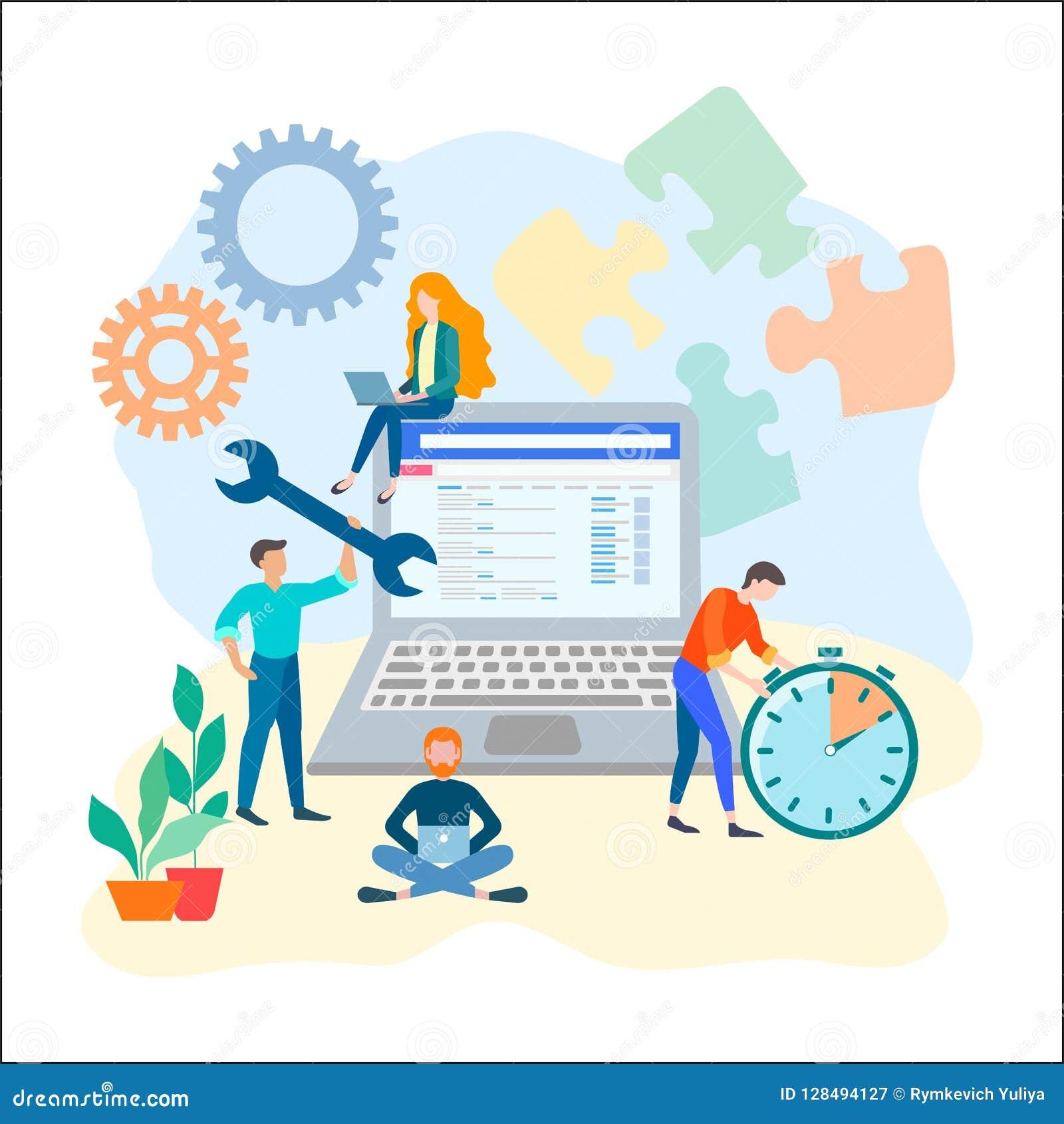 SEO-optimalisering, het concept van het teamwerk