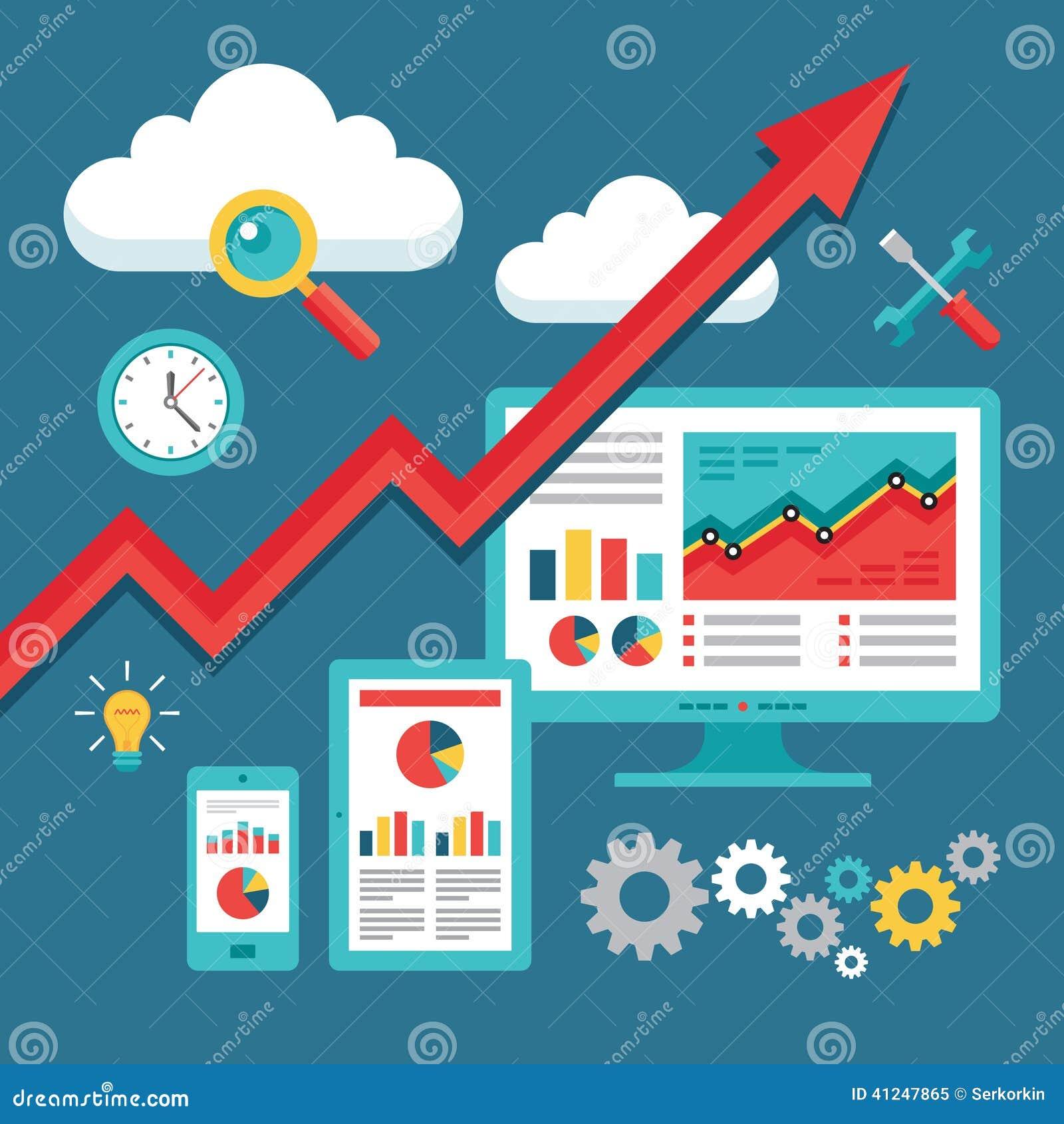 SEO (optimización del Search Engine) que programa - tendencia al alza del negocio
