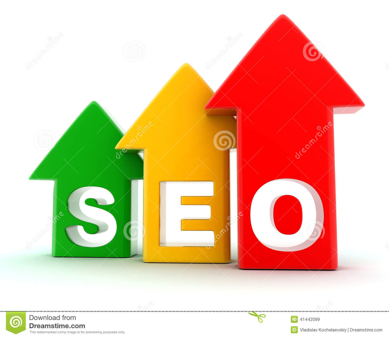 Seo stock illustration image 41442099 for 3d search engine