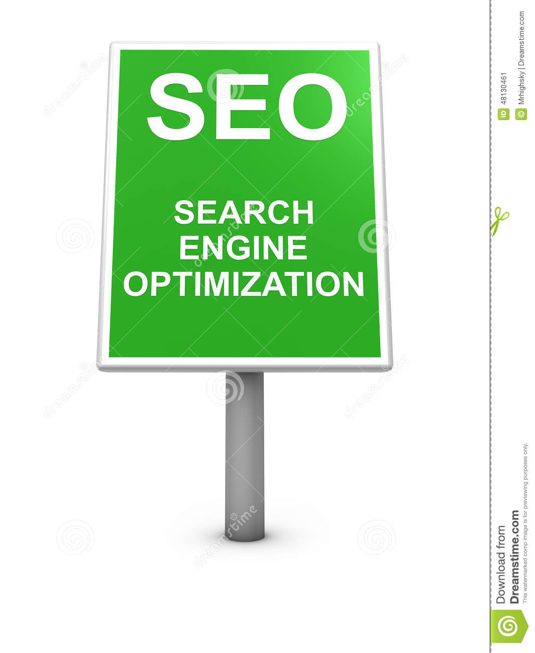 Seo sign board stock illustration image 48130461 for 3d search engine