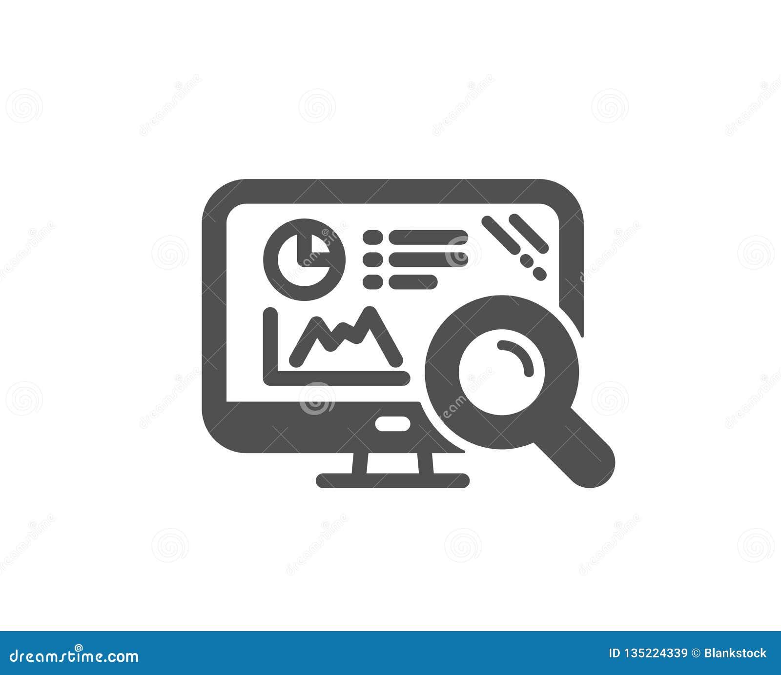 Seo Statistics Icon  Search Engine Sign  Vector Stock Vector
