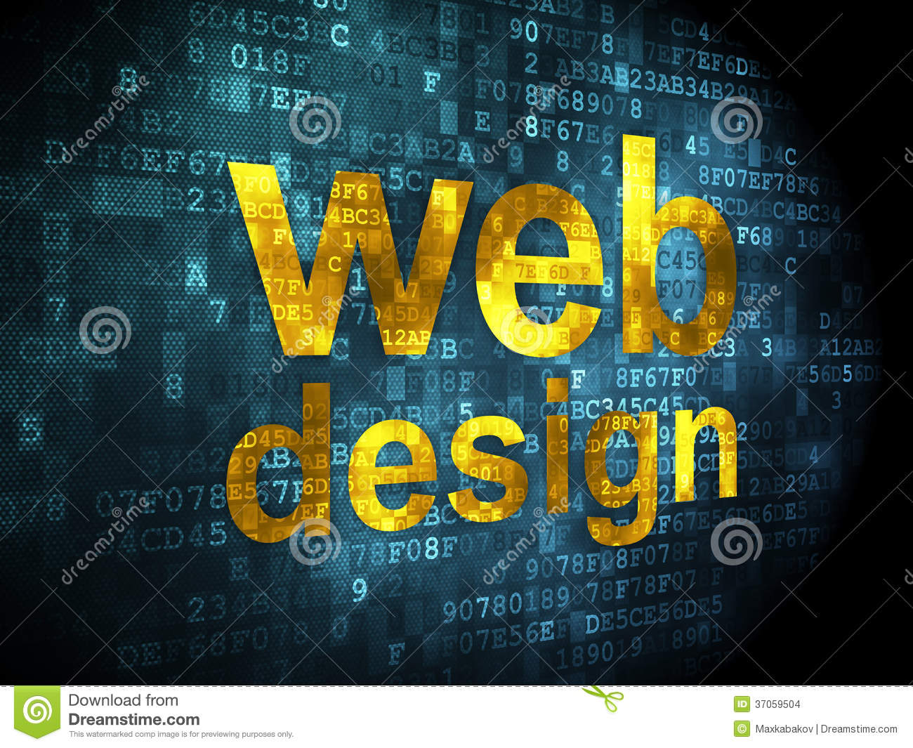 Web Design Concept: Blue Web Hosting On Digital Background Royalty ...