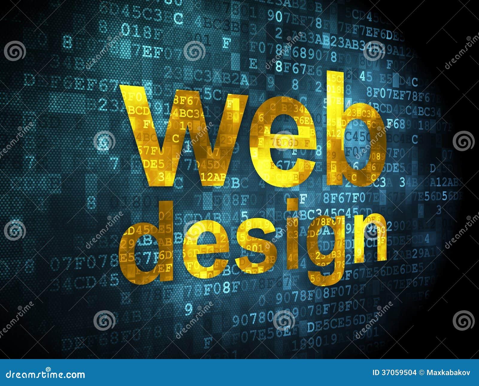SEO Web Development Concept: Web Design On Digital Stock ...
