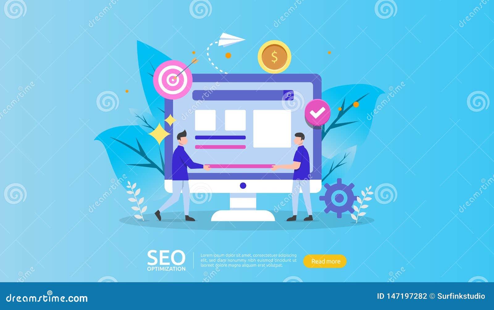 SEO wyszukiwarki optymalizacji rezultata poj?cie strona internetowa ranking, reklama, strategia pomys?u charakteru ludzie sie? de