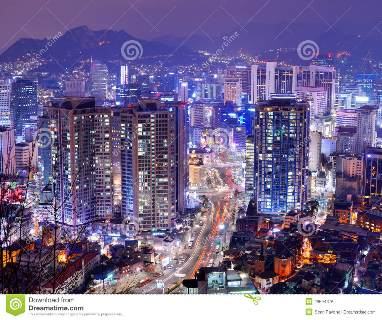 Seoul Gangnam District Royalty Free Stock Image - Image: 29594376