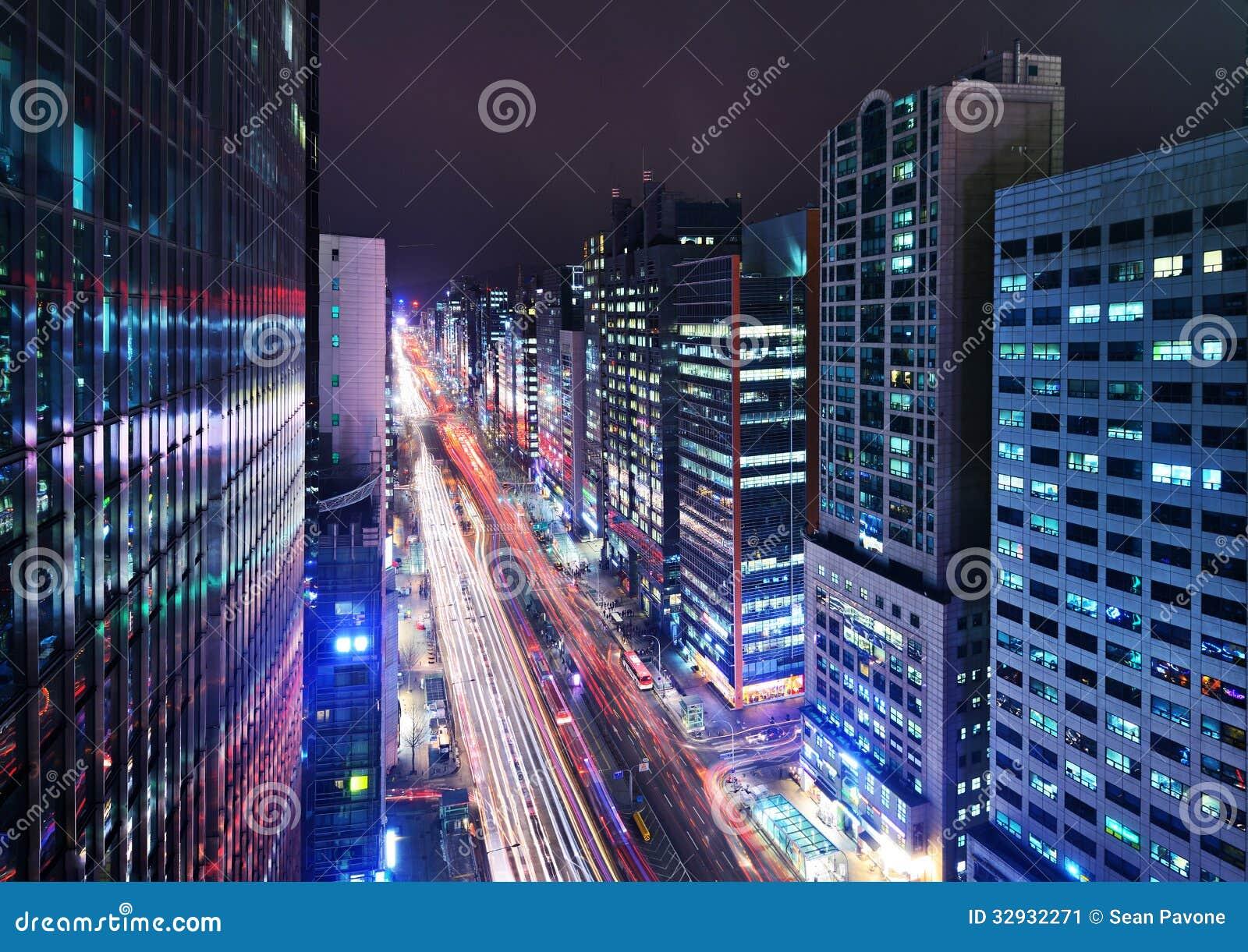 Seoul Gangnam District Cityscape Stock Image - Image: 32932271