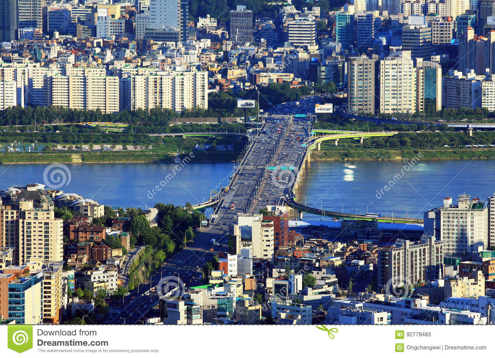 Seoul Han River Cityscape