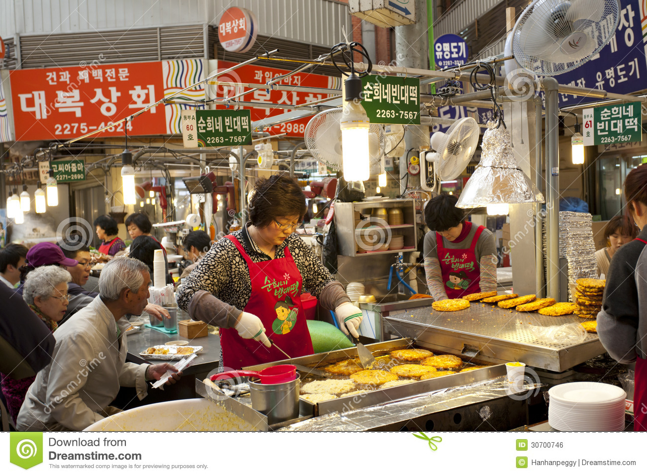 Seoul local market editorial photo image of market city for Traditional korean kitchen