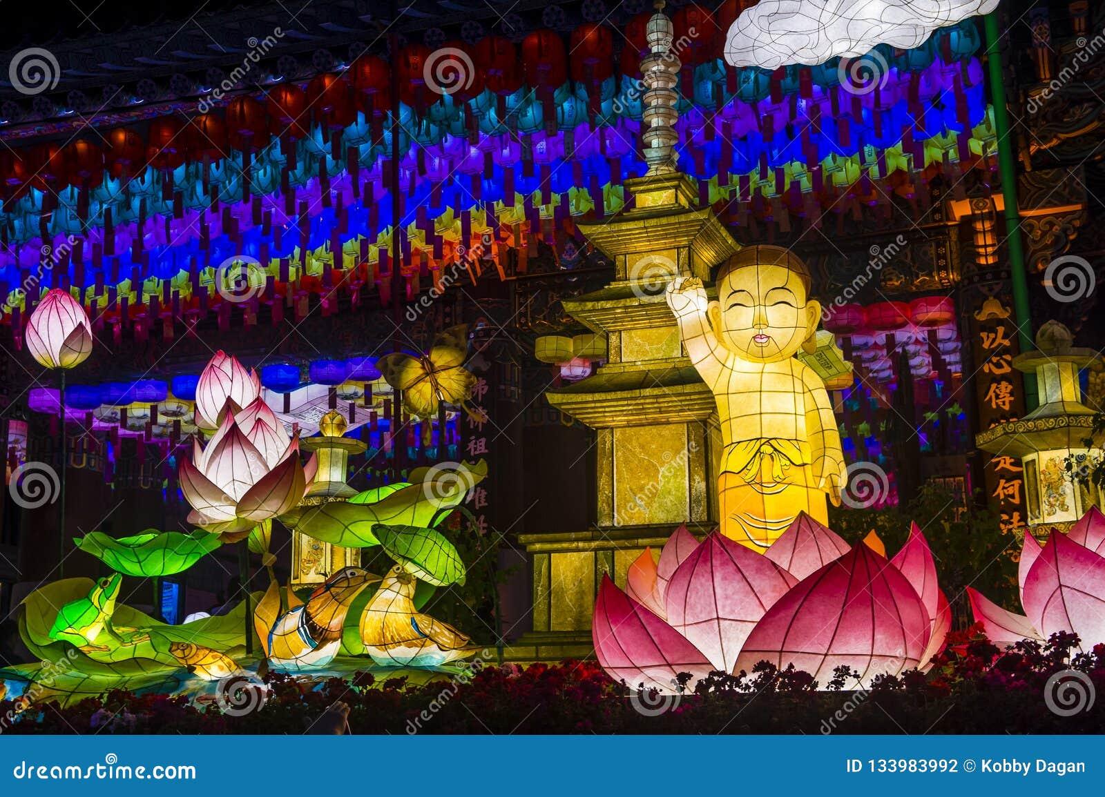 Seoul Lotus Lantern Festival Editorial Photography Image Of Asia Deung 133983992