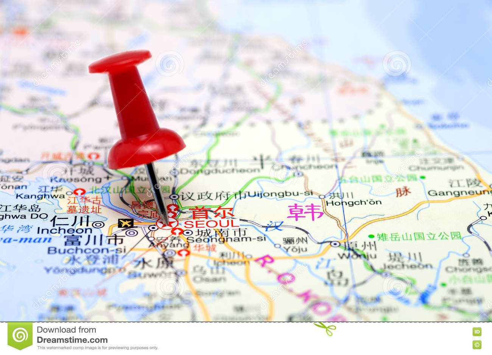 Seoul In Map Stock Photo Image Of Macro Indoors Advanced 77333388