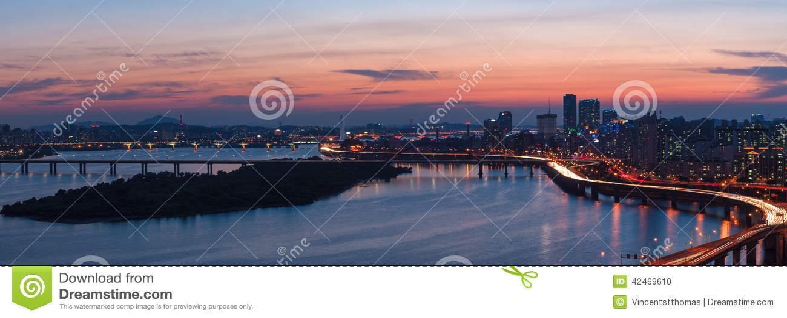 Seoul-Sonnenuntergang