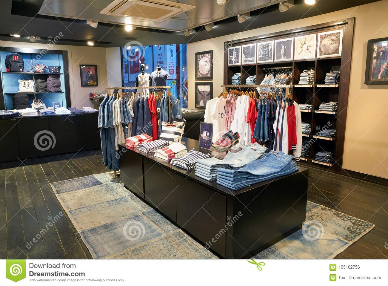 e6f561c0 SEOUL, SOUTH KOREA - CIRCA MAY, 2017: clothing on display at a Tommy  Hilfiger store in Seoul.