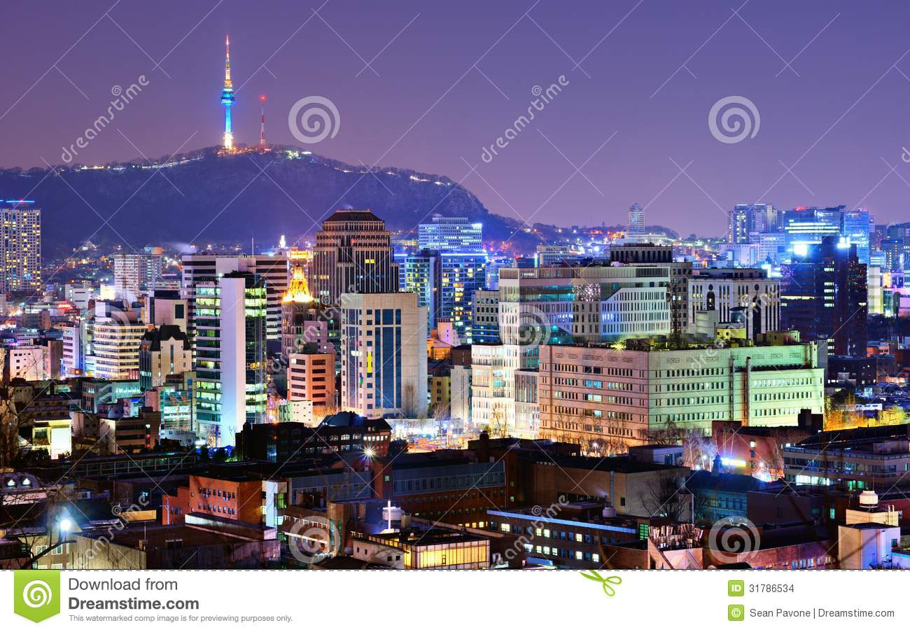 Seoul, South Korea Skyline Stock Images - Image: 31786534