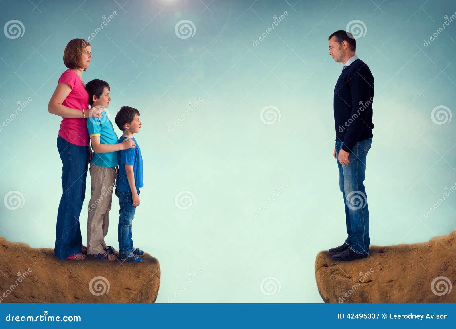 Separaci n de la familia del concepto del divorcio foto de for Concepto de la familia para ninos