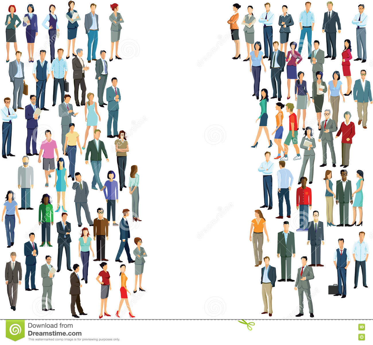 separate people. royalty-free vector. download separate groups of people a