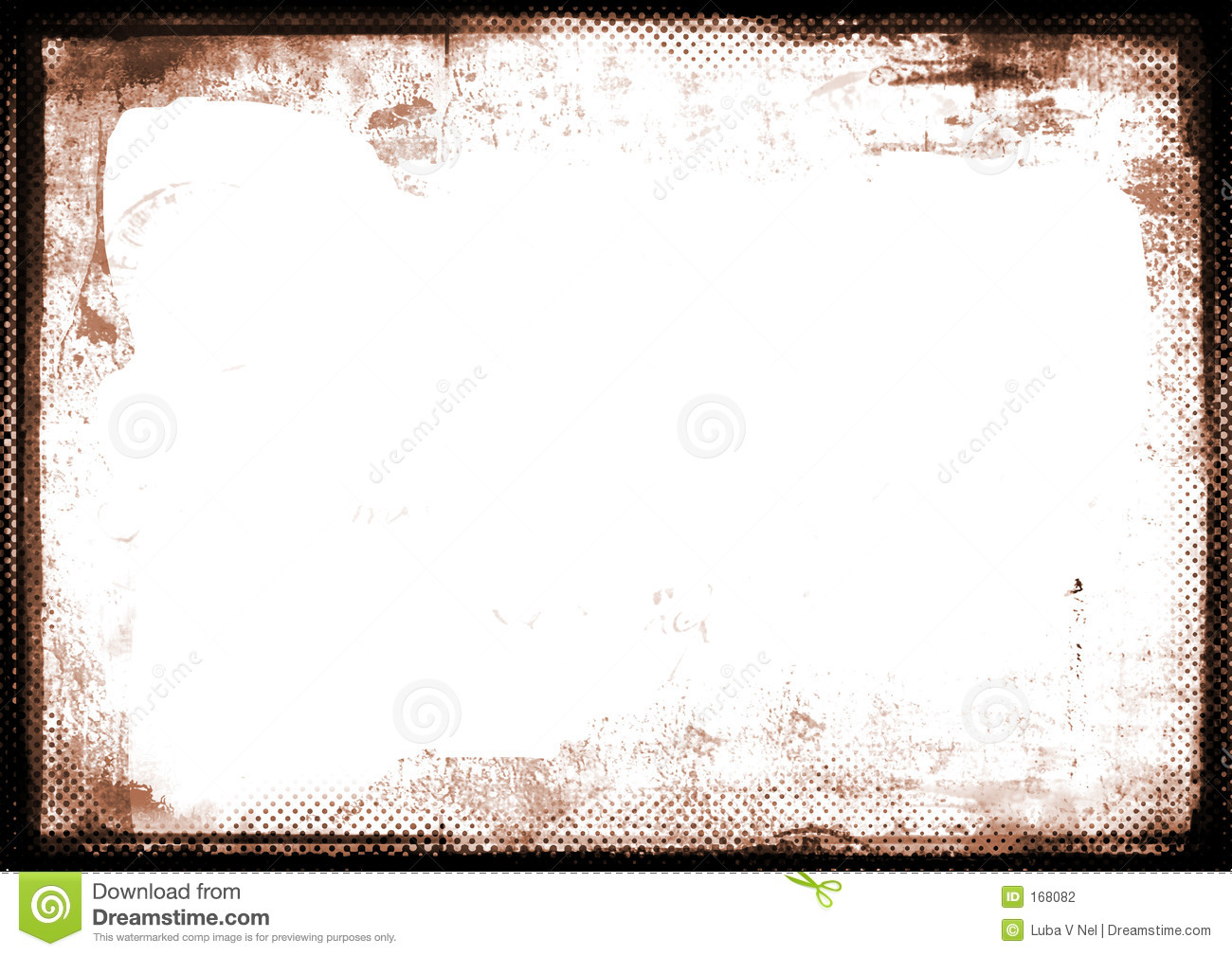 sepia burnt edge photographic border