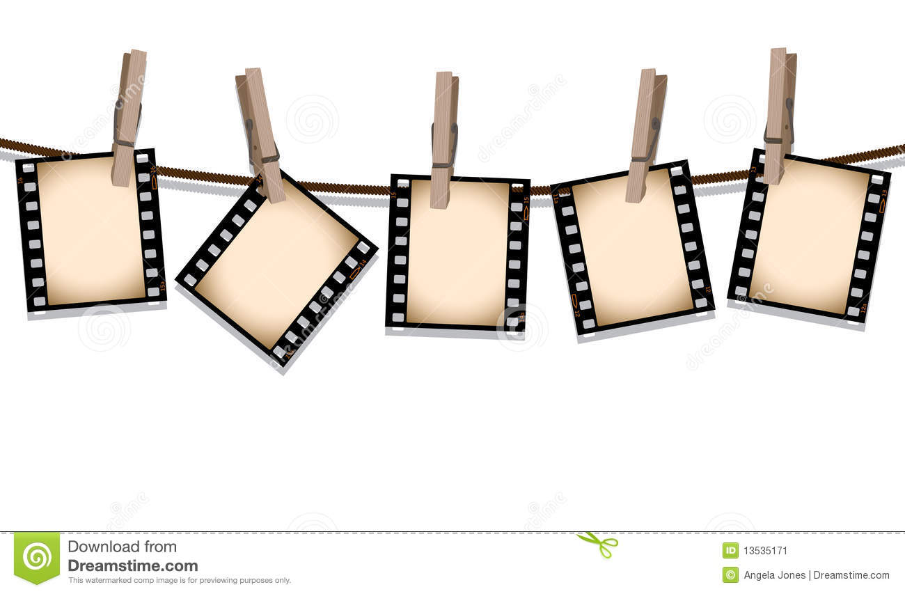 Sepia film strips hanging out to dry stock illustration - Negativos de fotos ...
