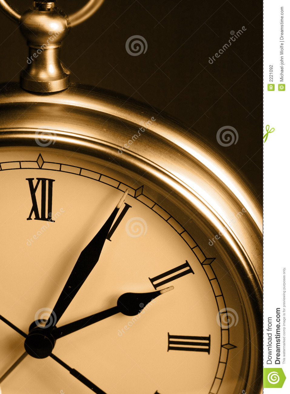Sepia Time Clock Stock Photography - Image: 2221092