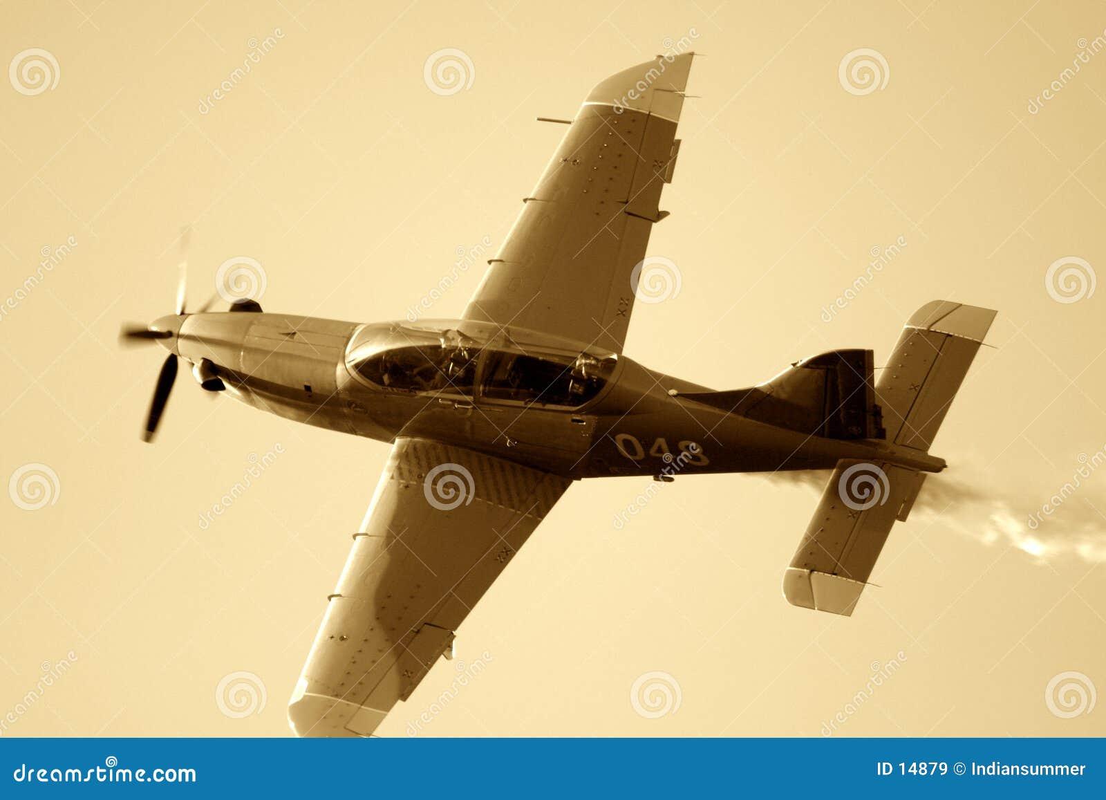 Sepiated Flugzeug