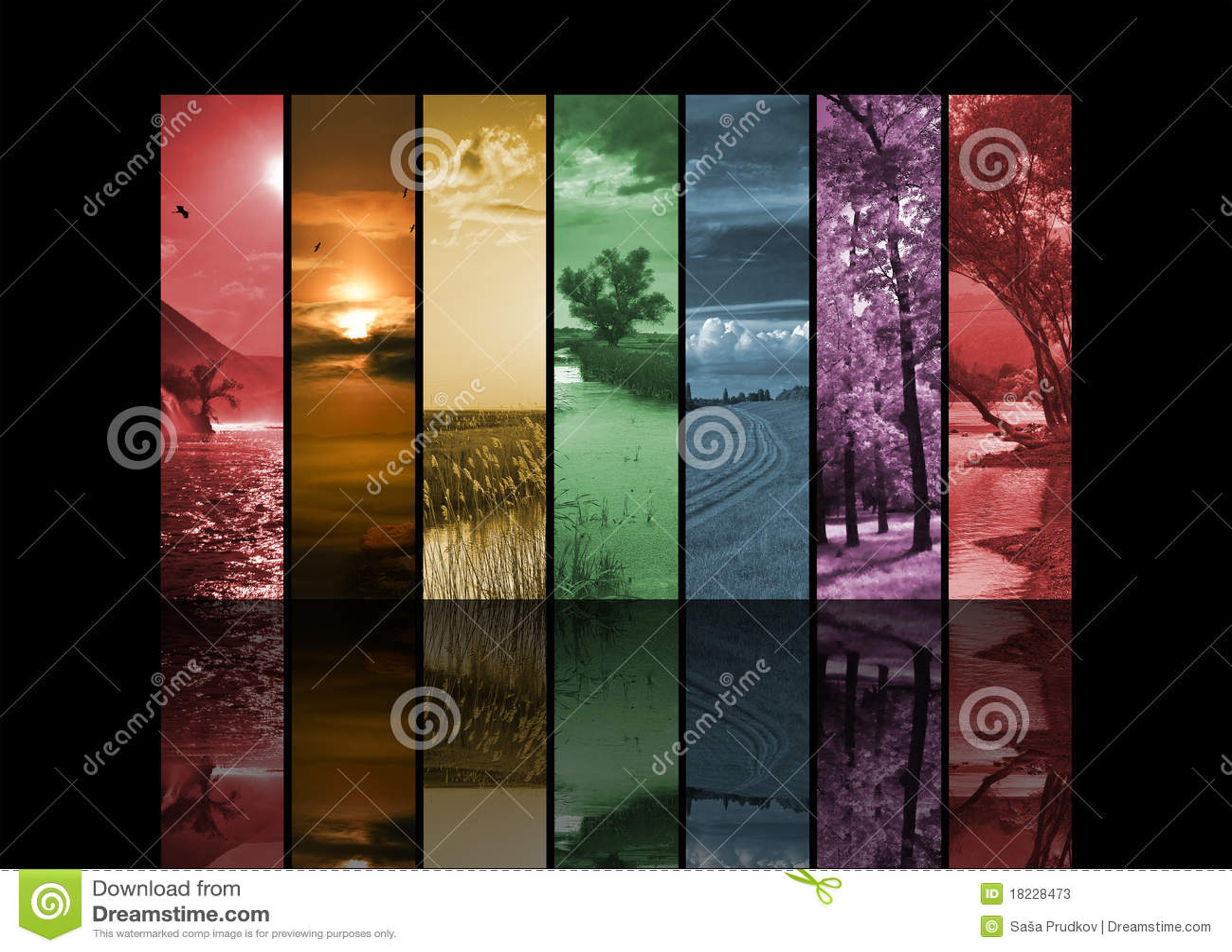 Sept photos verticales d horizontal