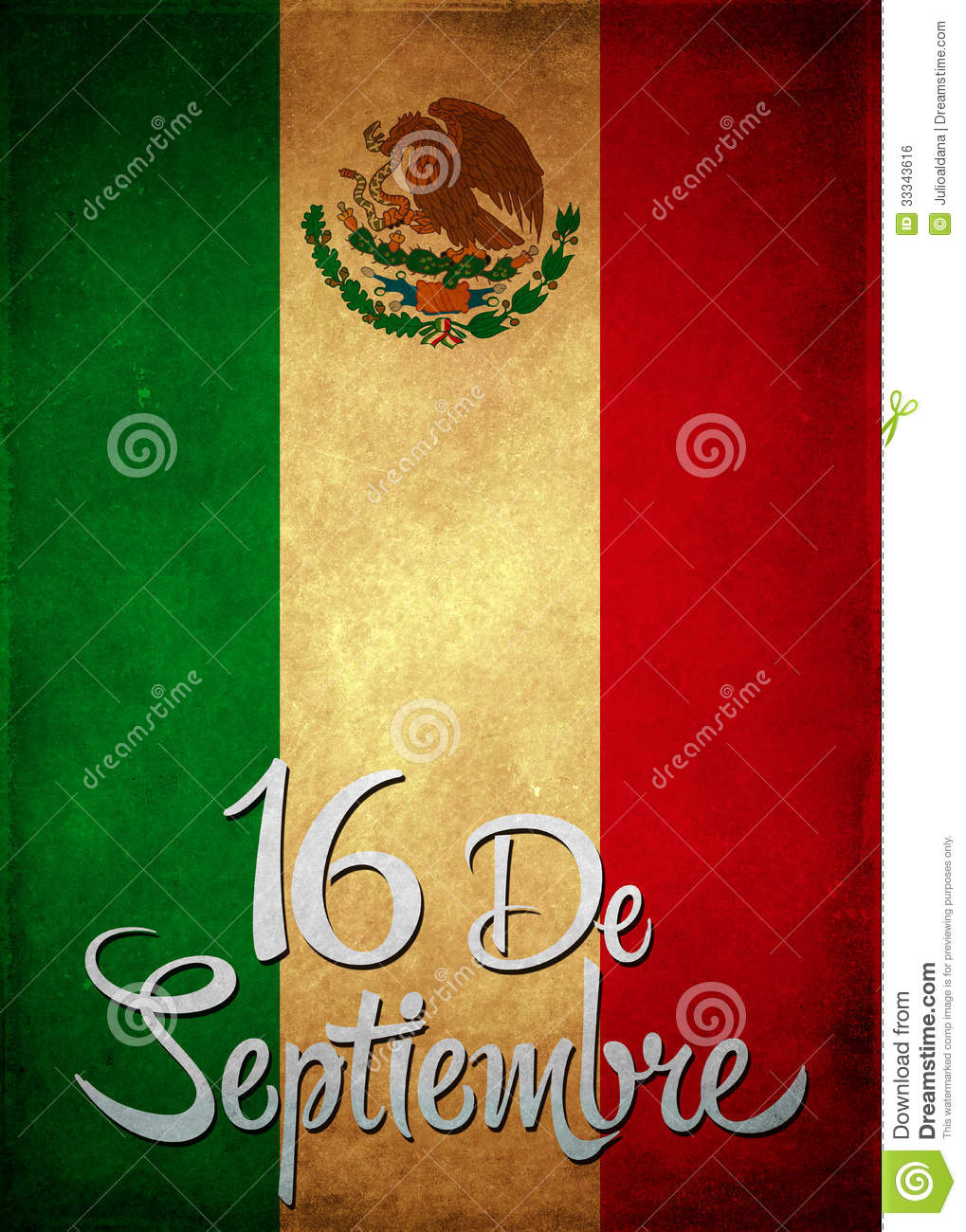 September 16 Mexican Independence Day Spanish Text Card - Poster ...