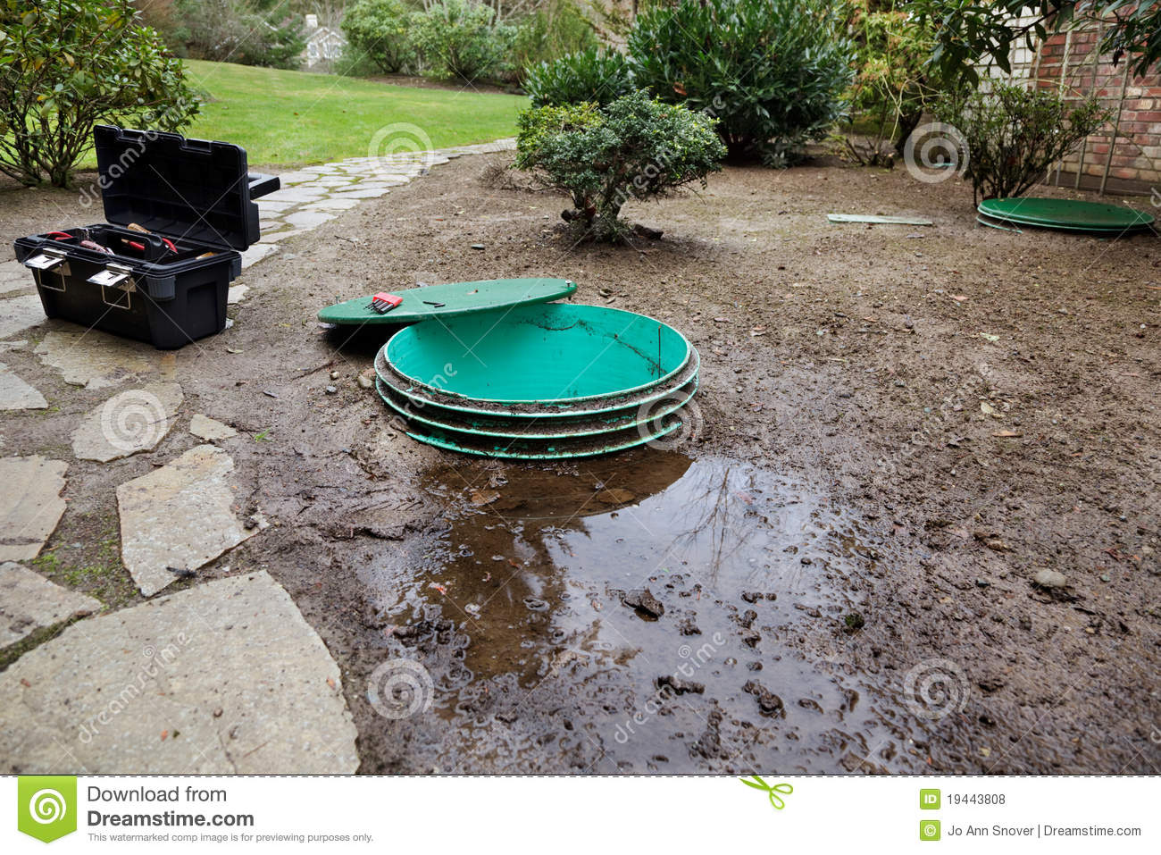 Septic System Leaks Royalty Free Stock Photos Image