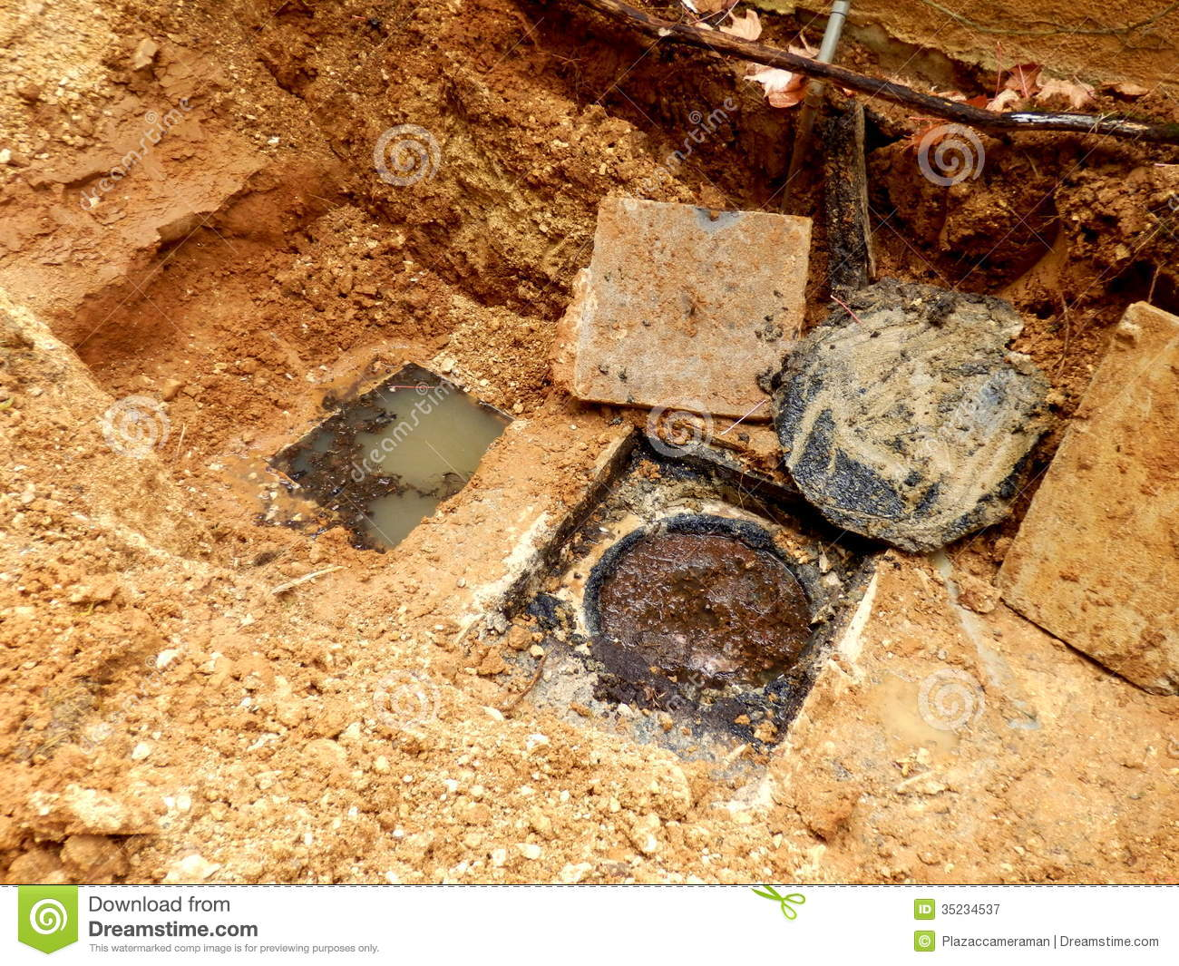 Septic Tank Inspection Hatches Royalty Free Stock