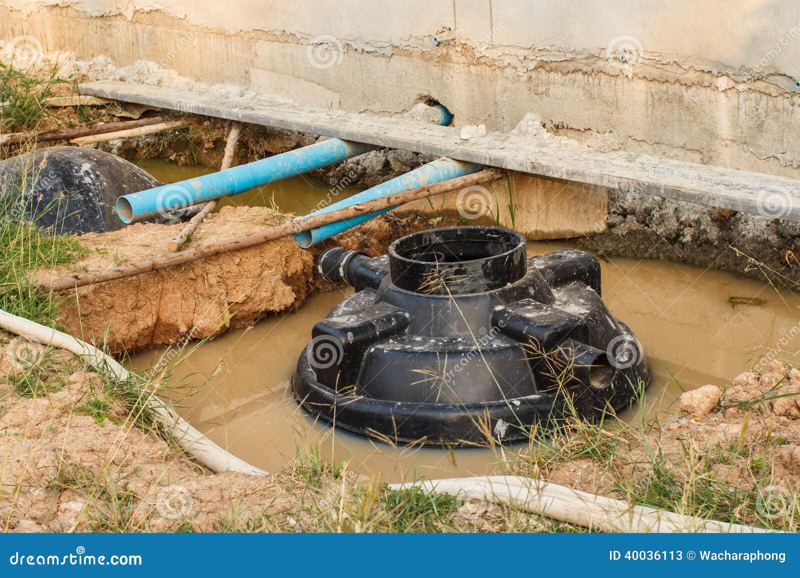 Septic Tank Stock Photo Image 40036113