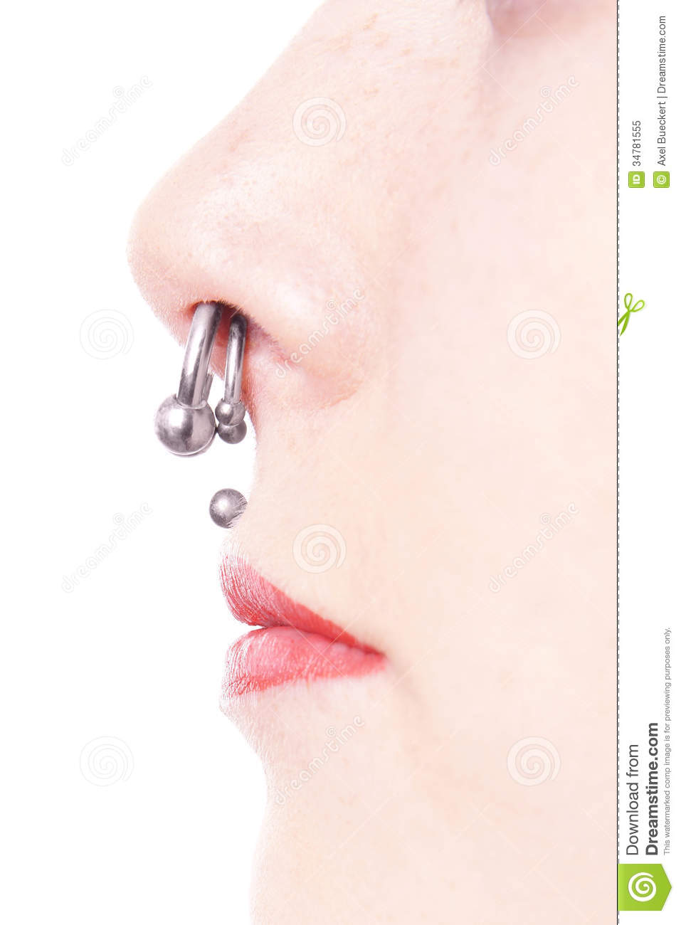 Septum And Medusa Piercings Royalty Free Stock Photo ...