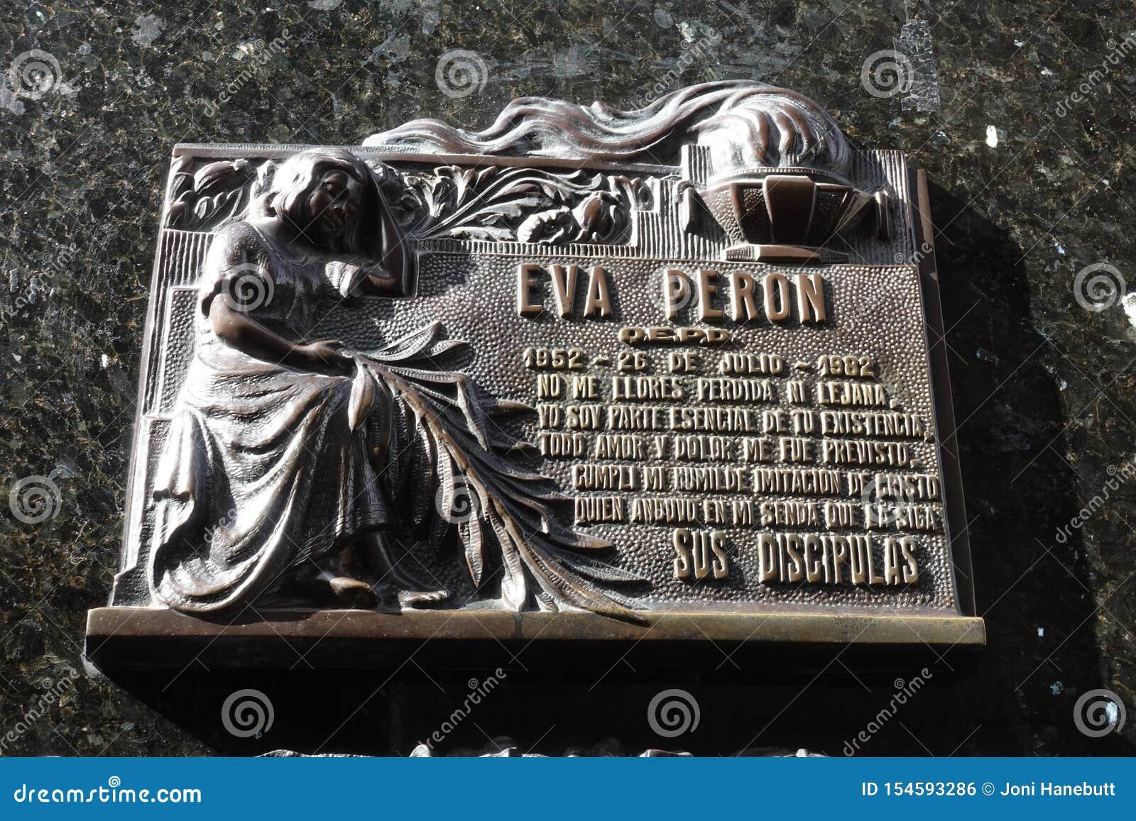 A sepultura de Eva Peron