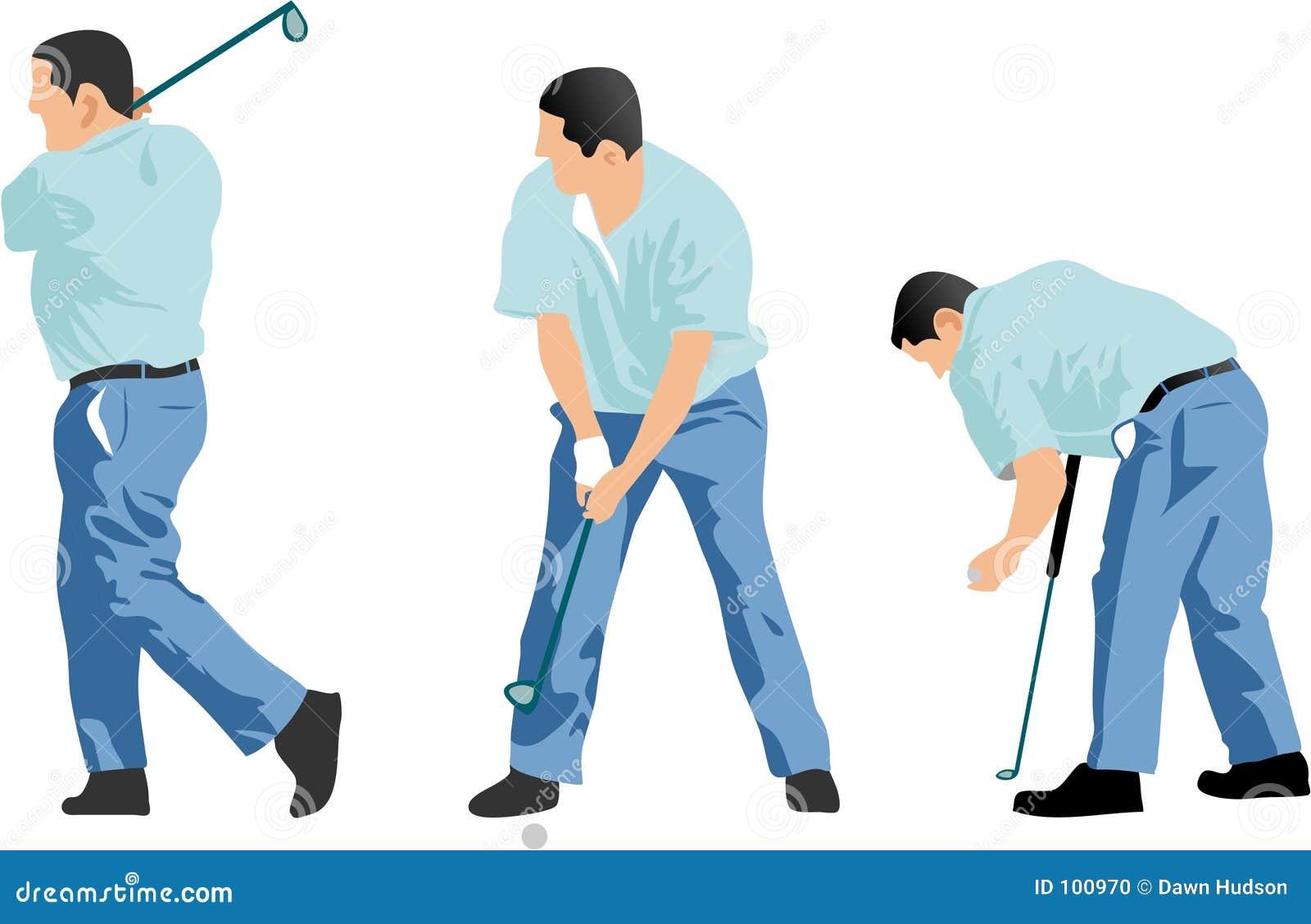 Seqüência do jogador de golfe