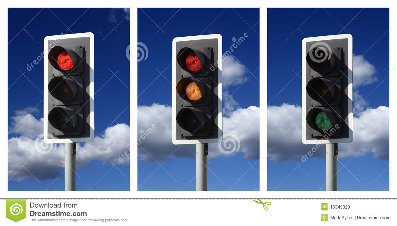 Sequence Of Red Amber Green Traffic Lights Stock Photo - Image ... for Real Traffic Lights  111ane