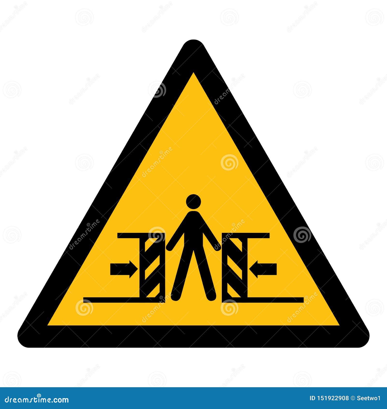 Ser cuidadoso o esmagamento do isolado do sinal do símbolo no fundo branco, ilustração EPS do vetor 10