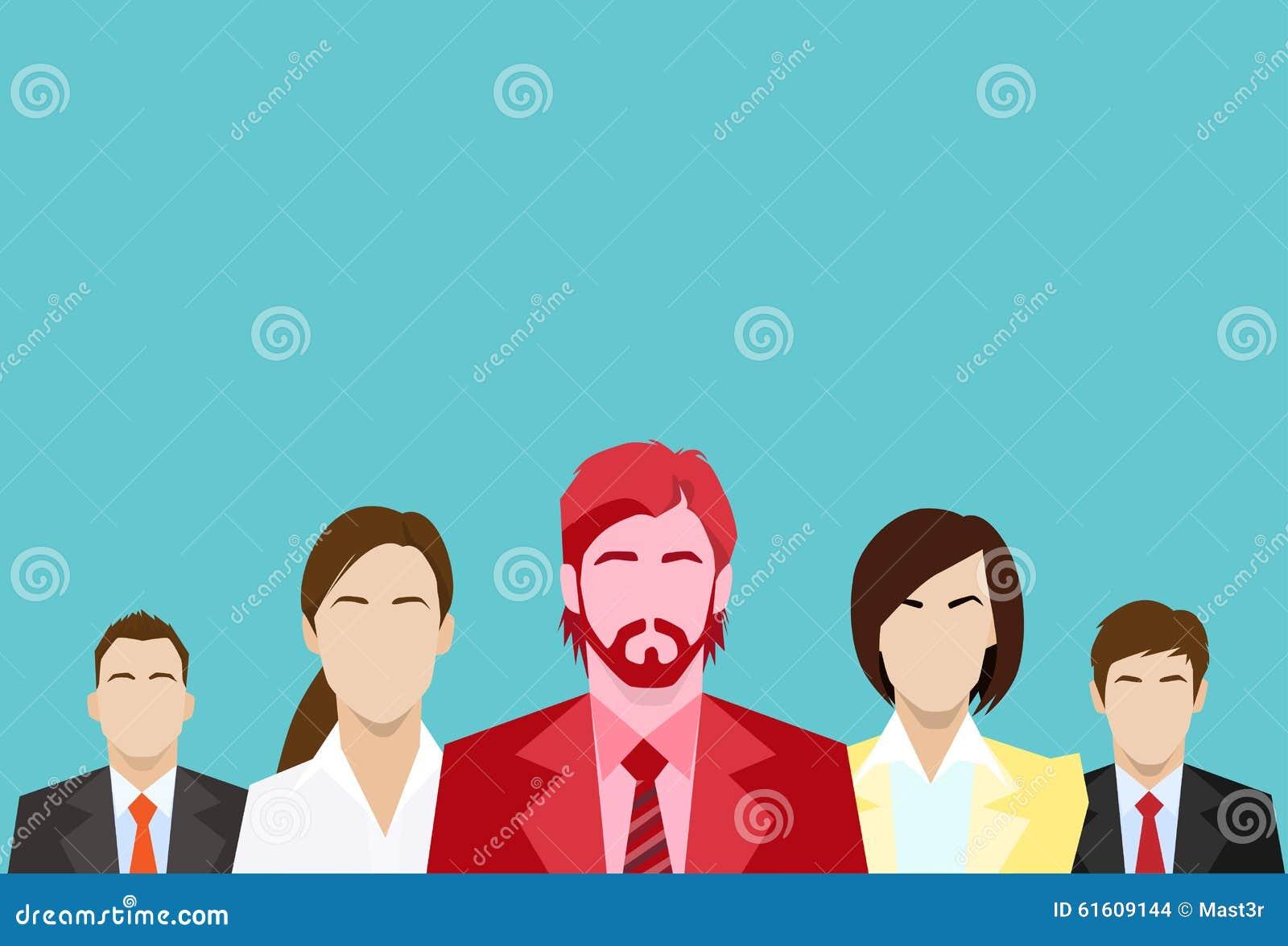 Ser humano rojo de Business People Group del hombre de negocios
