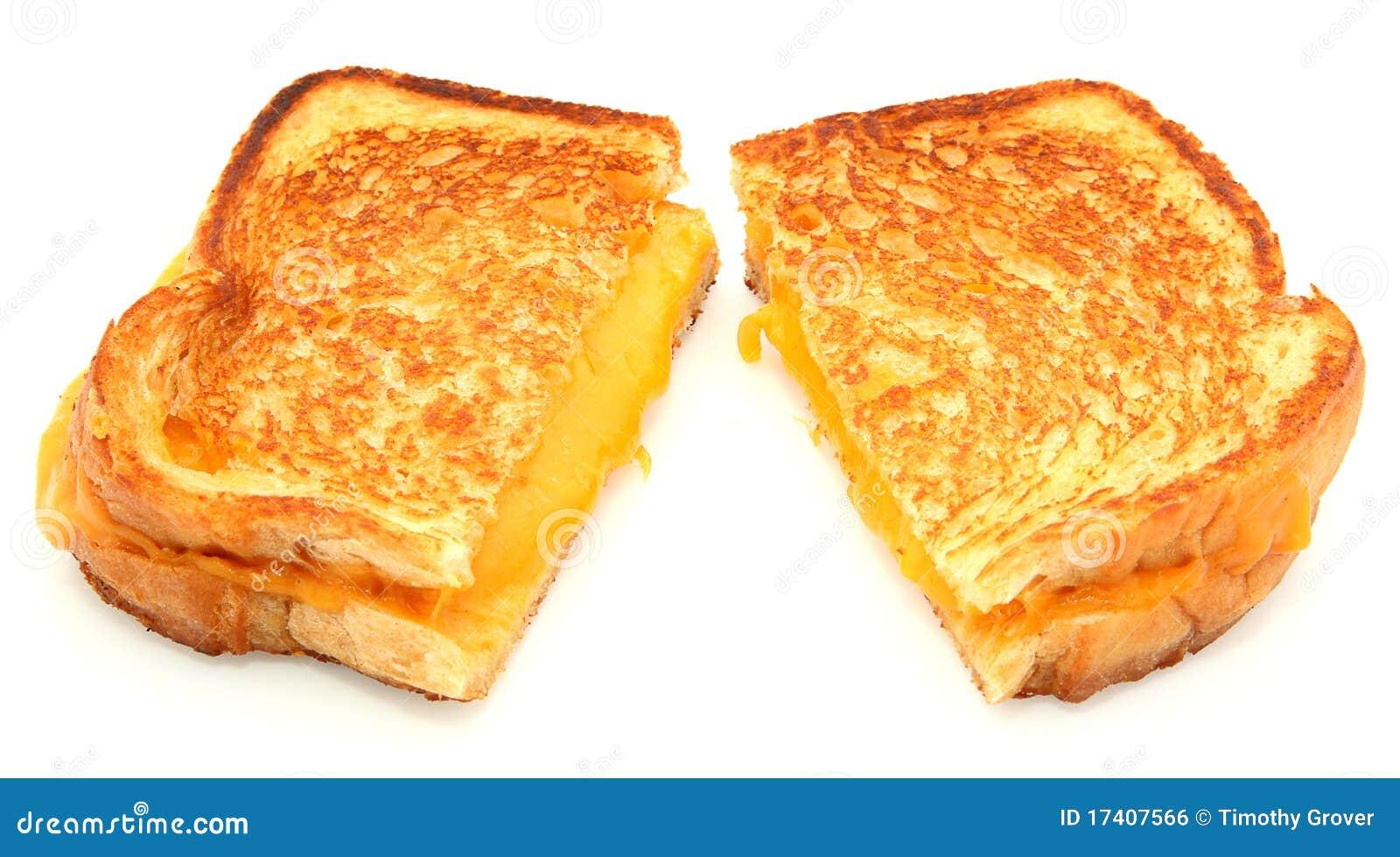 Ser piec na grillu odizolowywający kanapki biel