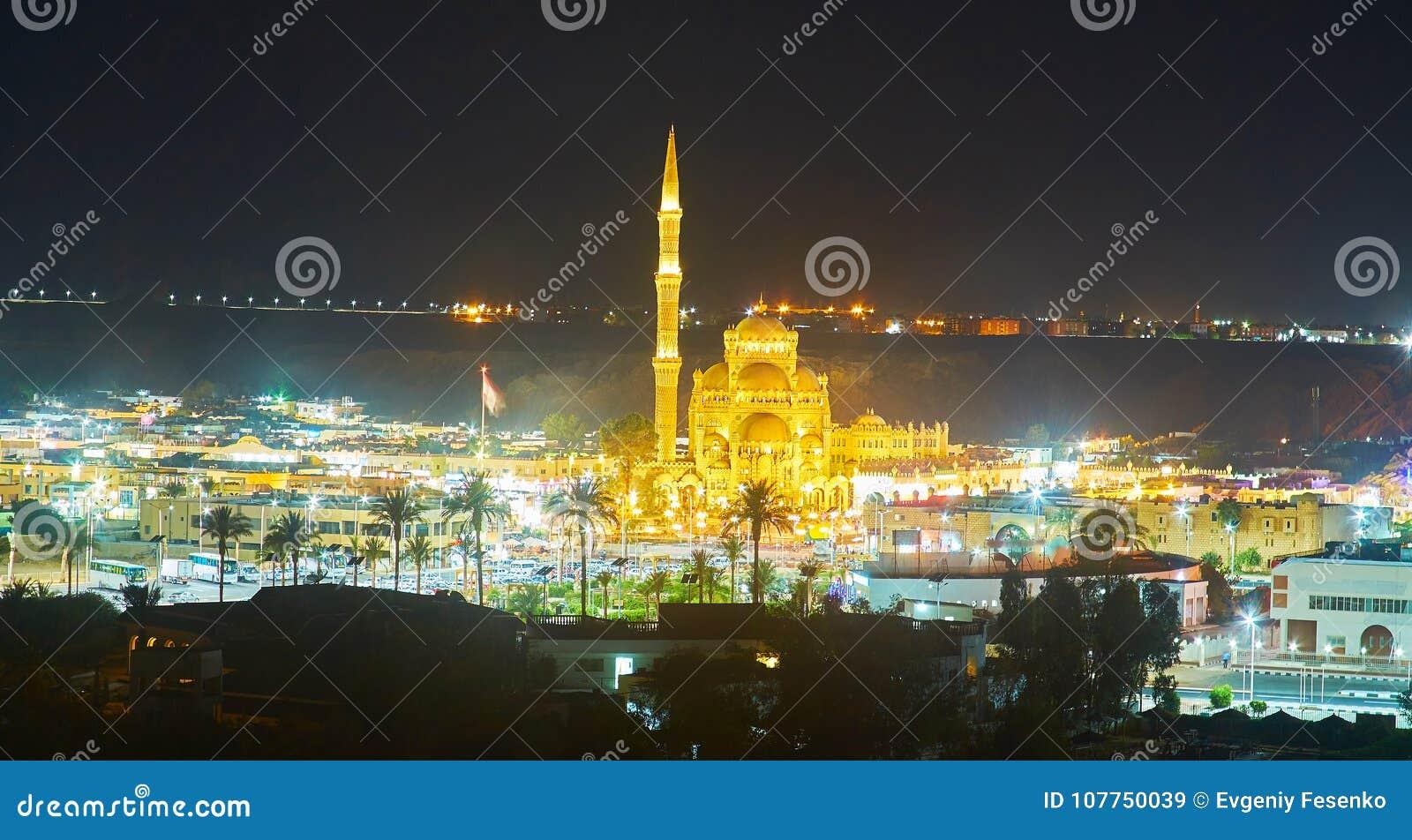Sera Nella Località Di Soggiorno Di Sharm El-Sheikh, Egitto Immagine ...