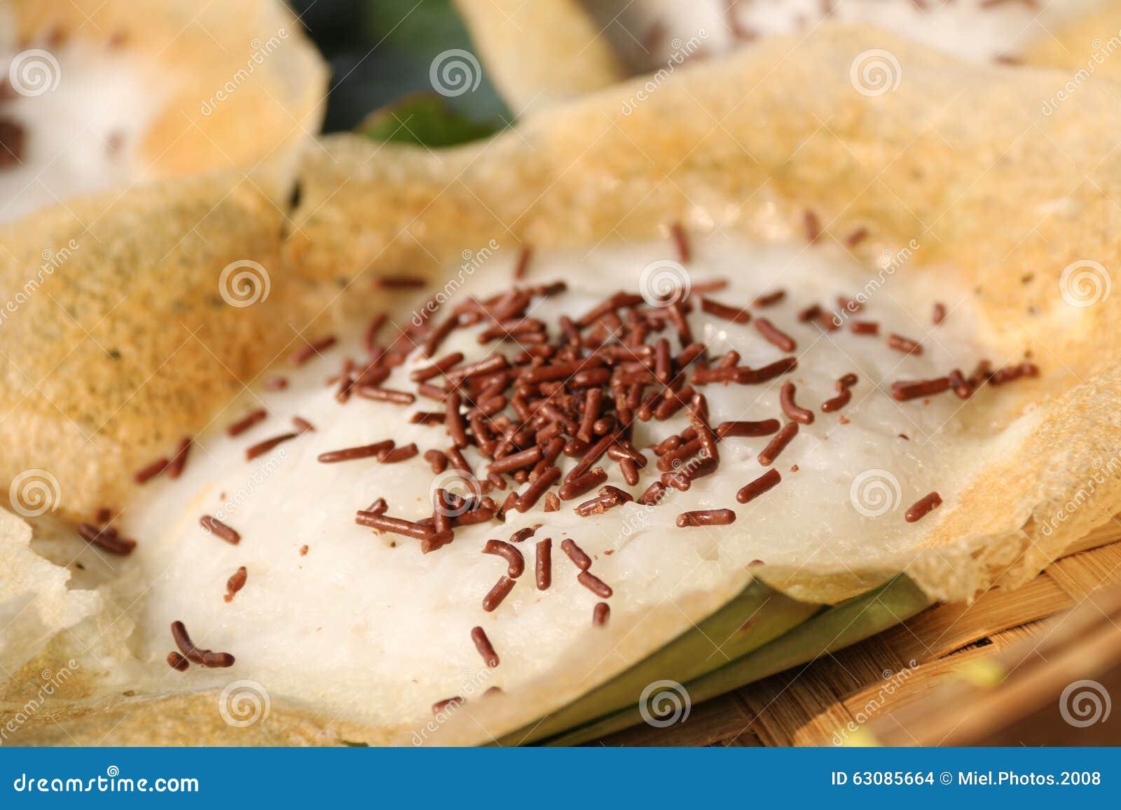 Download Serabi Solo Avec Du Chocolat Arrose Photo stock - Image du brun, indonésien: 63085664