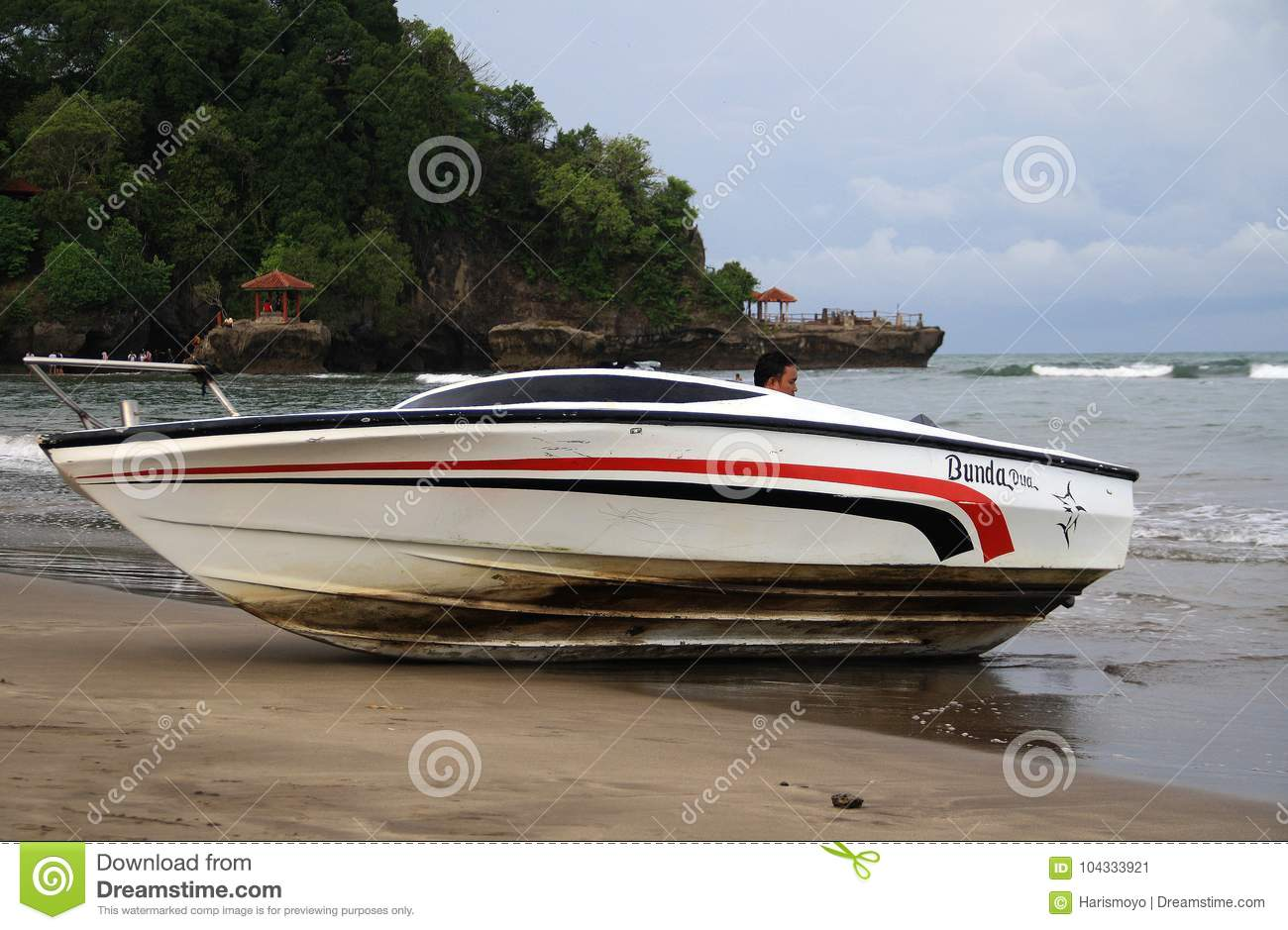 Speed Boat On Anyer Editorial Photo Image Of Summer 104333921