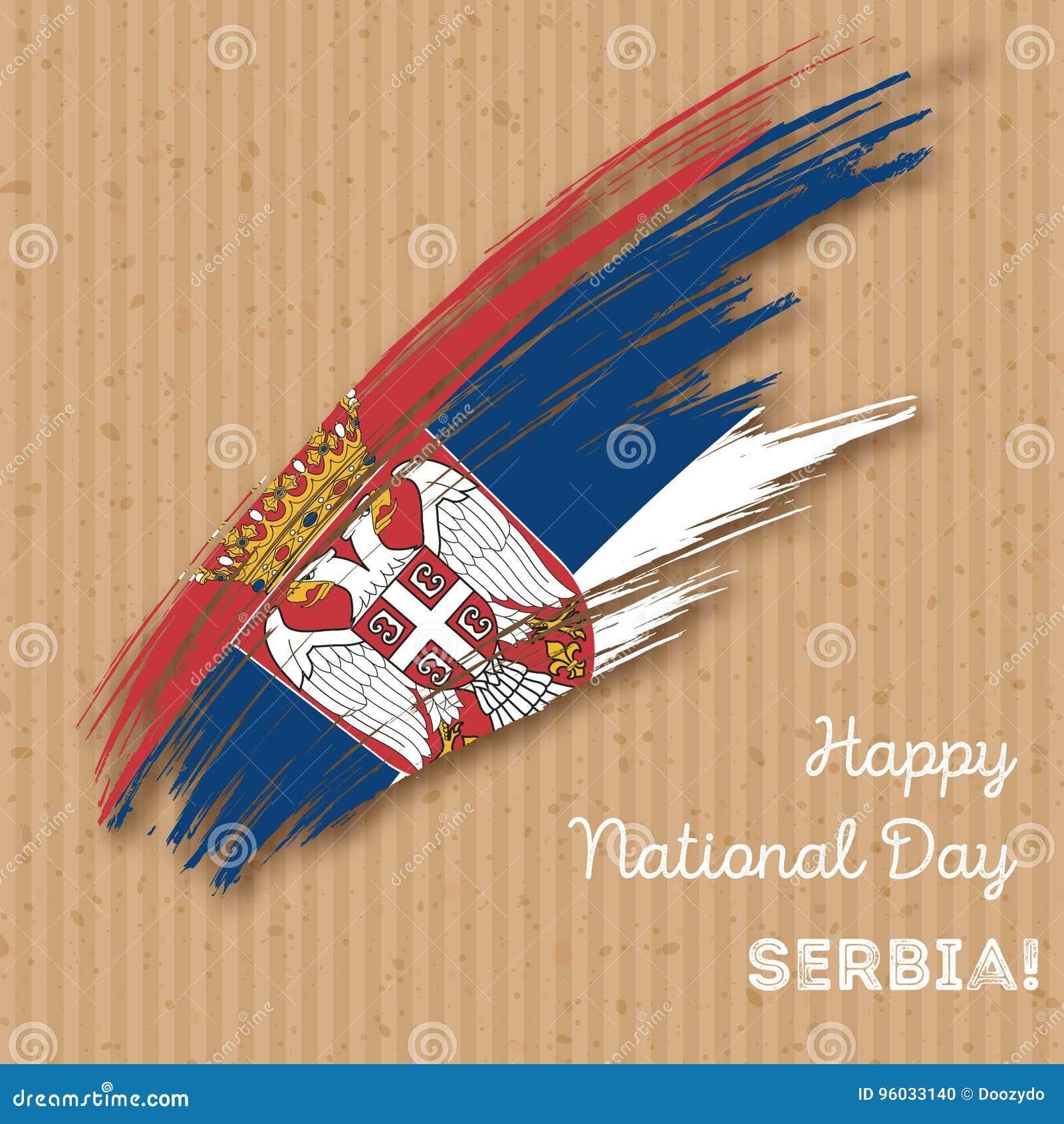 Serbia dnia niepodległości Patriotyczny projekt
