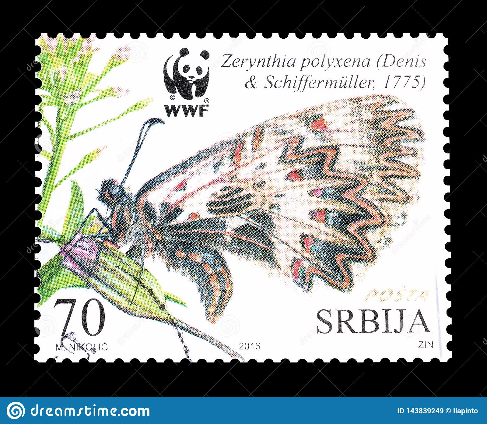 Serbia On Postage Stamps Editorial Stock Image Image Of