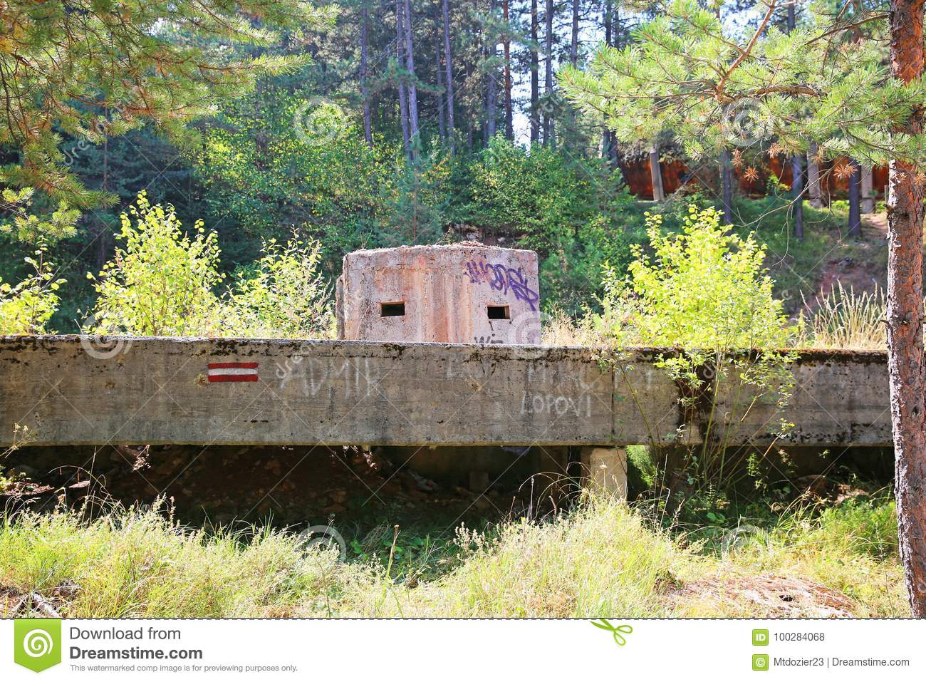 Serbian Army Pillbox 1984 Olympic Ruins Sarajevo Bosnia