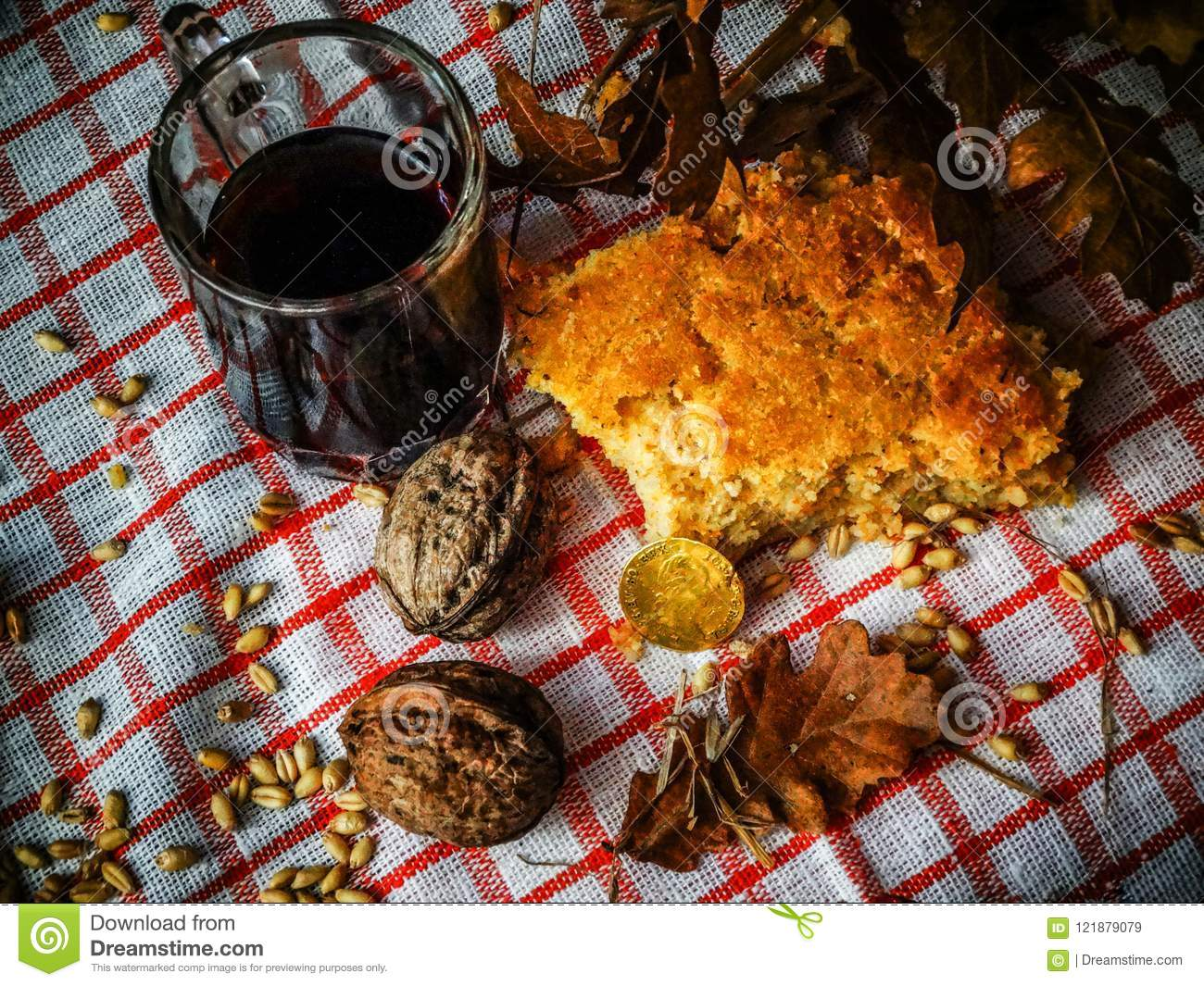 bread wine and nuts on a rustic surface serbian christmas costume serbian christmas - When Is Serbian Christmas