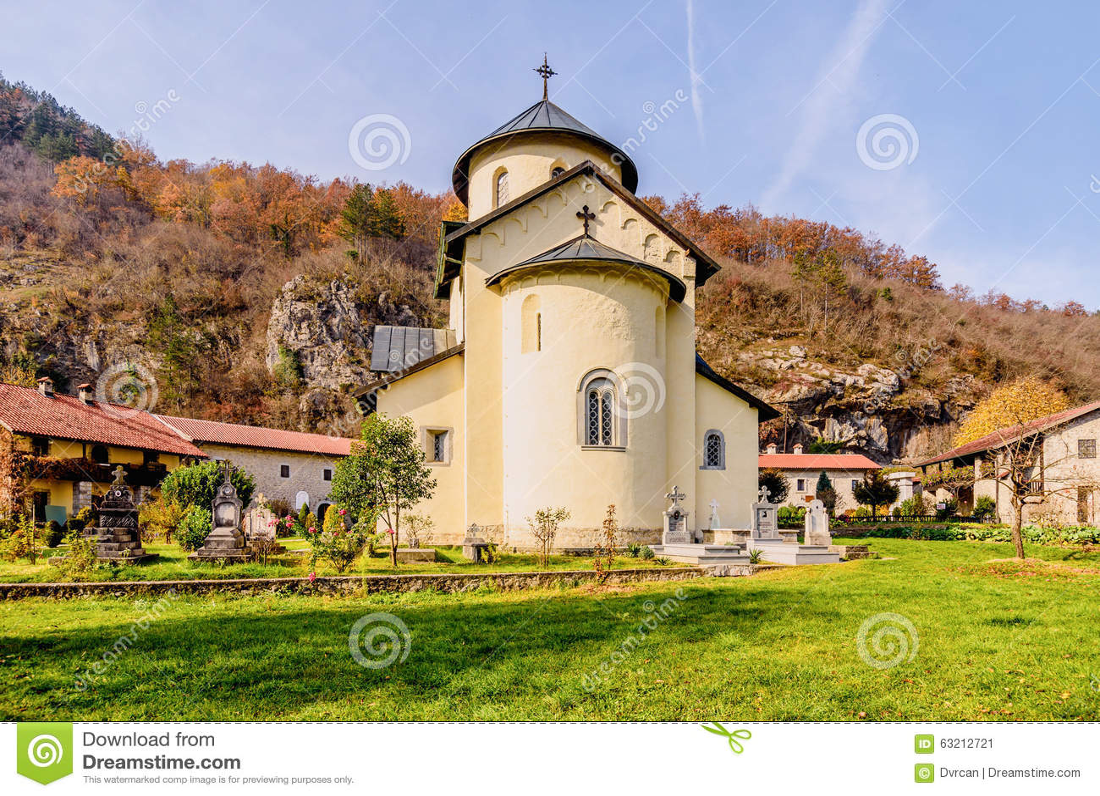 Serbian Orthodox Monastery Moraca, Kolasin,Montenegro