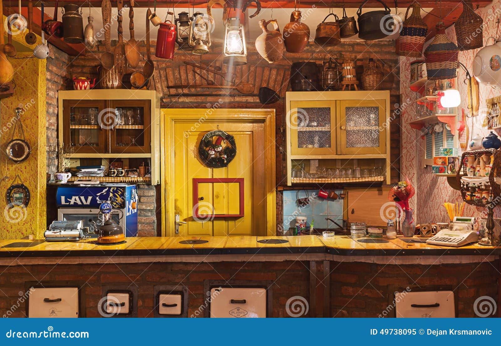 Serbian restaurant editorial image of furniture