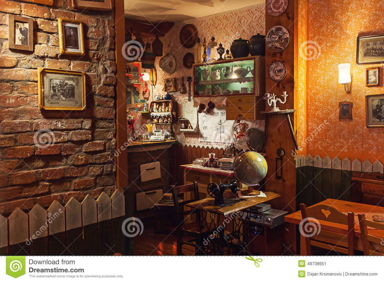 Serbian restaurant editorial photo image