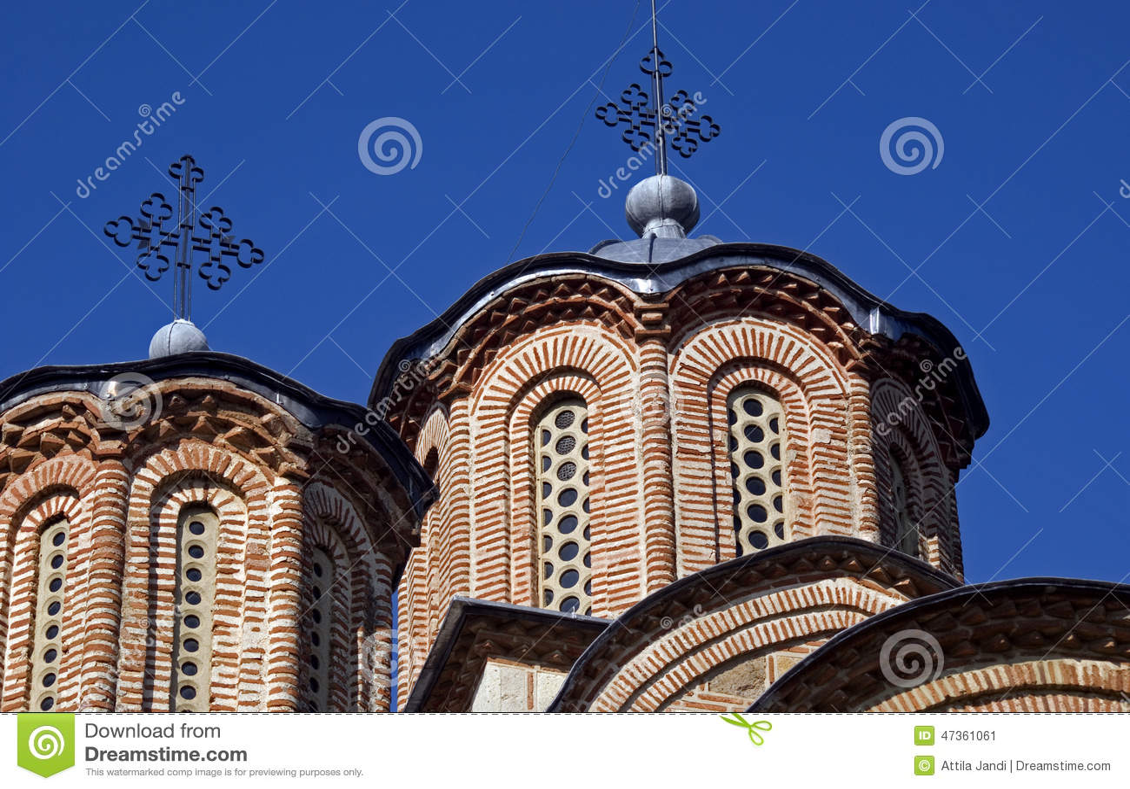 Serbisk ortodox kloster, Gracanica, Kosovo