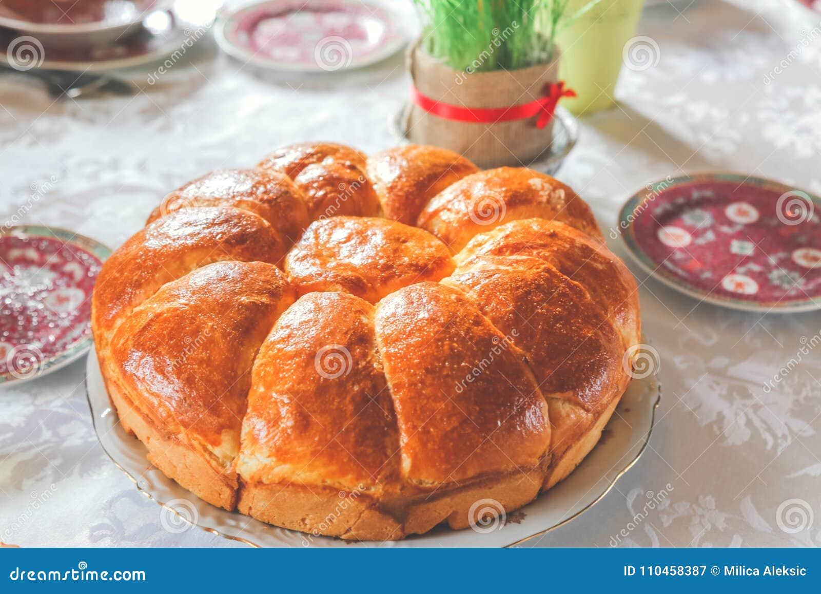 Serbiskt vete för jul bröd och jul